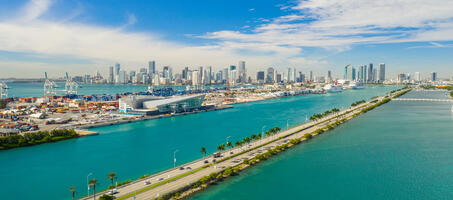 Overview of port of Miami